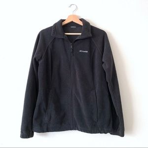 COLUMBIA Black Front Zip Fleece